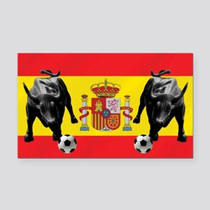 Spanish Football Bull Flag Rectangle Car Magnet