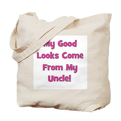 Good Looks From Uncle - Pink Tote Bag