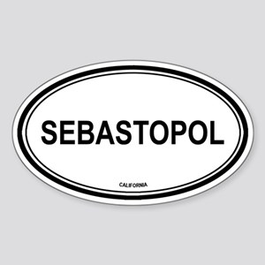 Sebastopol oval Oval Sticker