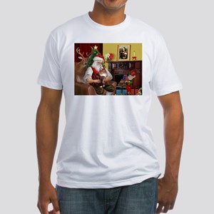 Santa's Maine Coon Fitted T-Shirt