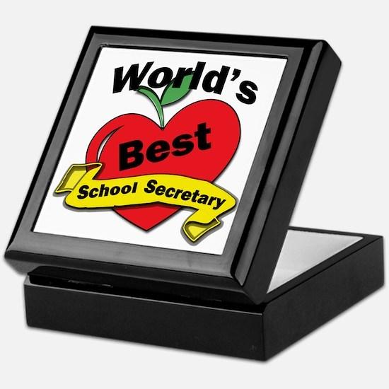 Cool School secretary Keepsake Box