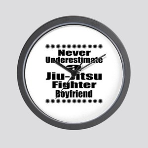 Never Underestimate Jiu-Jitsu Fighter B Wall Clock