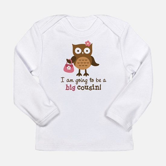Big Cousin to be - Mod Owl Long Sleeve Infant T-Sh