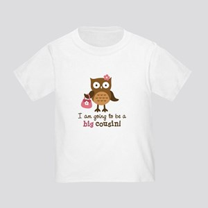 Big Cousin to be - Mod Owl Toddler T-Shirt
