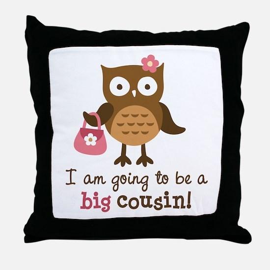 Big Cousin to be - Mod Owl Throw Pillow
