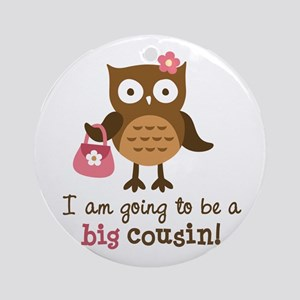 Big Cousin to be - Mod Owl Ornament (Round)