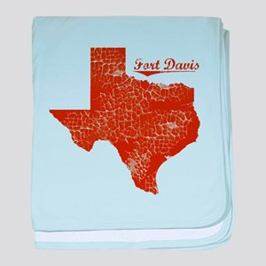 Fort Davis, Texas (Search Any City!) baby blanket