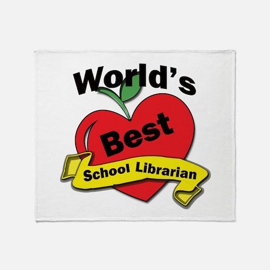 Unique School librarian Throw Blanket