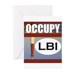occupy lbi Greeting Cards