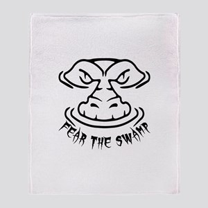 Fear the Swamp Gator Throw Blanket