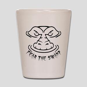 Fear the Swamp Gator Shot Glass