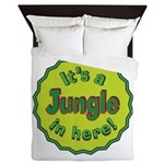It's a Jungle in Here Queen Duvet