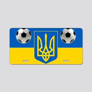 Ukrainian Football Flag Aluminum License Plate