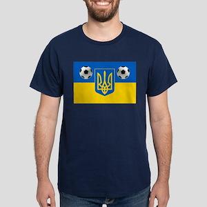 Ukrainian Football Flag Dark T-Shirt
