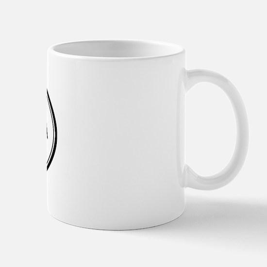 Santa Clarita oval Mug