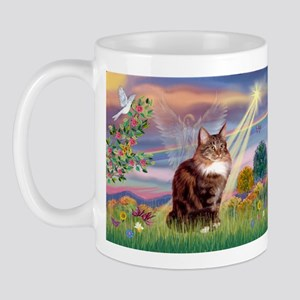 Cloud Angel & Maine Coon Mug