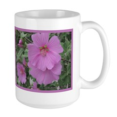 Fe's Pink Malva Large Mug