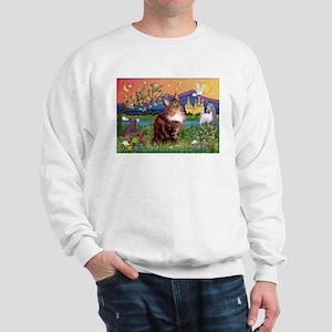 Maine Coon in Fantasy Land Sweatshirt