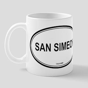 San Simeon oval Mug