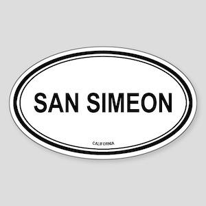 San Simeon oval Oval Sticker
