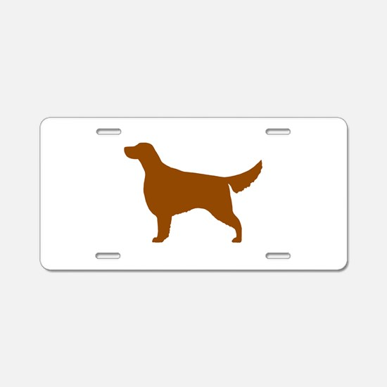 Irish Setter Aluminum License Plate