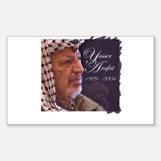 Yasser Arafat Rectangle Decal