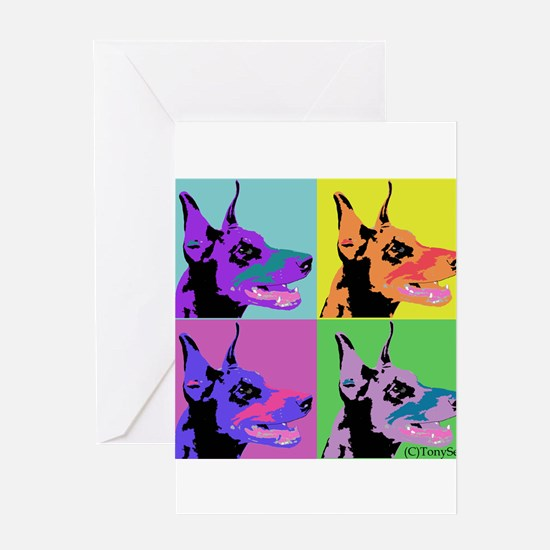Doberman Pop Art Greeting Card