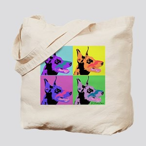 Doberman Pop Art Tote Bag