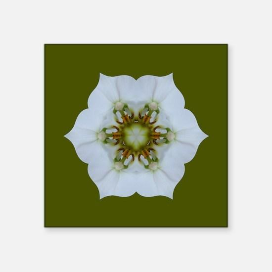 "Orchid Kaleidoscope Square Sticker 3"" x 3"""