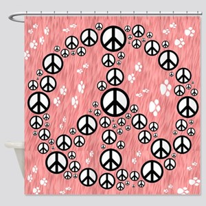 Paws for Peace Shower Curtain