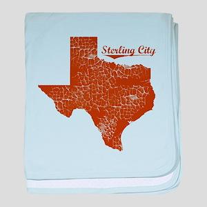 Sterling City, Texas. Vintage baby blanket