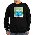 Fishbowl Pickup Lines Cartoon Sweatshirt (dark)