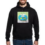 Fishbowl Pickup Lines Cartoon Hoodie (dark)