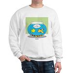 Fishbowl Pickup Lines Cartoon Sweatshirt