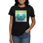Fishbowl Pickup Lines Cartoon Women's Dark T-Shirt