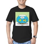 Fishbowl Pickup Lines Cartoon Men's Fitted T-Shirt