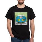 Fishbowl Pickup Lines Cartoon Dark T-Shirt