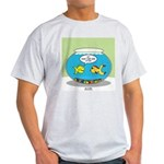 Fishbowl Pickup Lines Cartoon Light T-Shirt