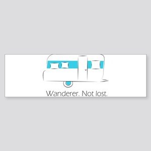 Wanderer. Not lost. Sticker (Bumper)