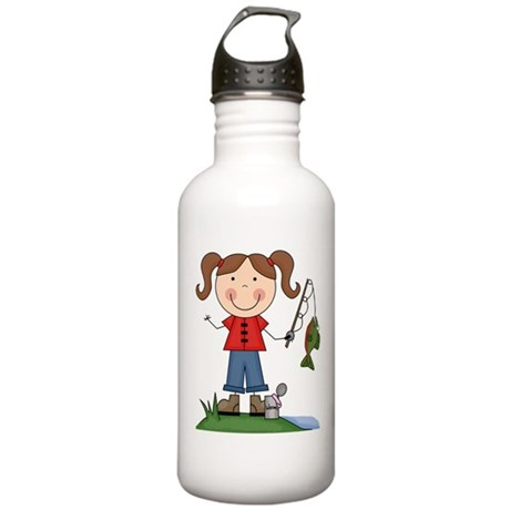 Fishing Girl Stainless Water Bottle 1.0L