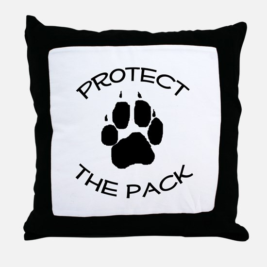 Protect the Pack! Throw Pillow