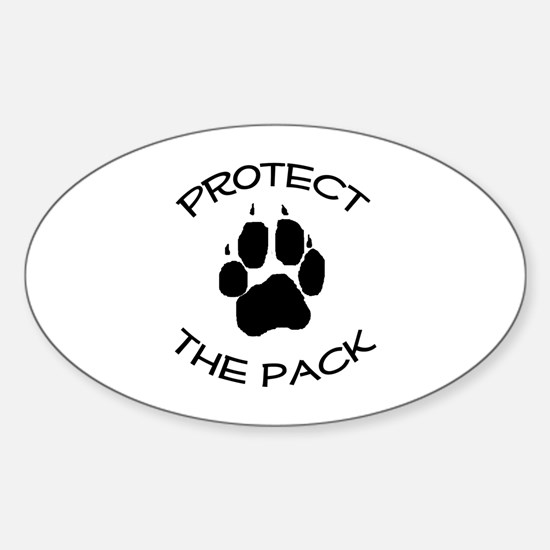 Protect the Pack! Sticker (Oval)