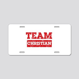 Team Christian Aluminum License Plate