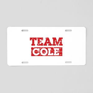 Team Cole Aluminum License Plate