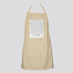 Mouse Made Cloth Diaper Text large Apron