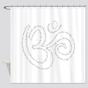 Soul Qualities Om Shower Curtain
