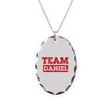 Team Daniel Necklace Oval Charm