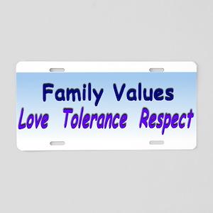 family values xl Aluminum License Plate