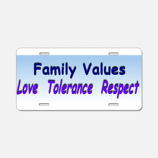 family values xl.jpg Aluminum License Plate