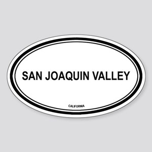 San Joaquin Valley oval Oval Sticker